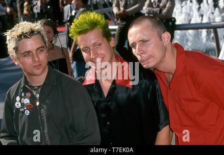 Groupe de rock américain Green Day en 1998. Photo: Jeffrey Mayer Photo Stock
