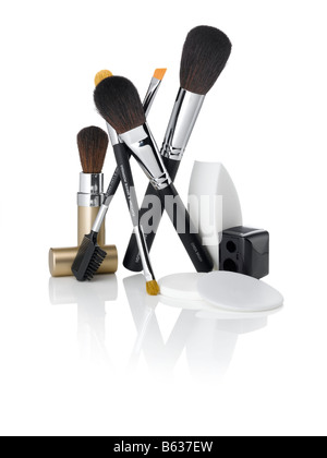 Découper un shot d'un kit de maquillage Photo Stock