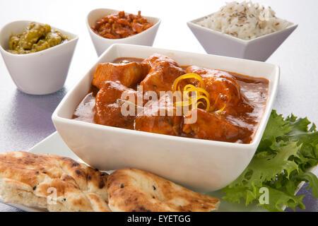 Poulet tikka masala curry indien Photo Stock