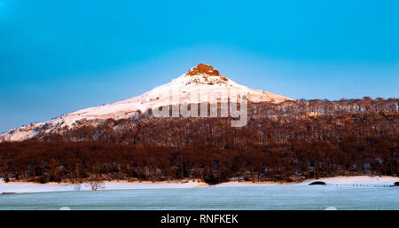 Neige en hiver Topping Roseberry, Yorkshire du Nord Photo Stock