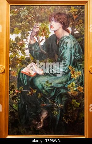 La peinture intitulée 'Le Rêve' par la Fraternité préraphaélite Dante Gabriel Rossetti Artiste daté 1880 Photo Stock