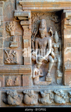 TEMPLE de Shiva dans le Tamil Nadu GANGAIKONDACHOLAPURAM Photo Stock