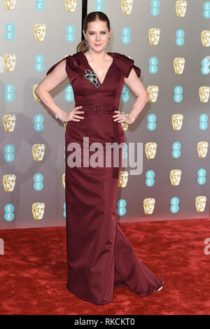 Londres, Royaume-Uni. 10 fév, 2019. Londres, Royaume-Uni. 10 février 2019 : Amy Adams arrivant pour le BAFTA Film Awards 2019 au Royal Albert Hall, Londres. Photo : Steve Sav/Featureflash Crédit : Paul Smith/Alamy Live News Photo Stock