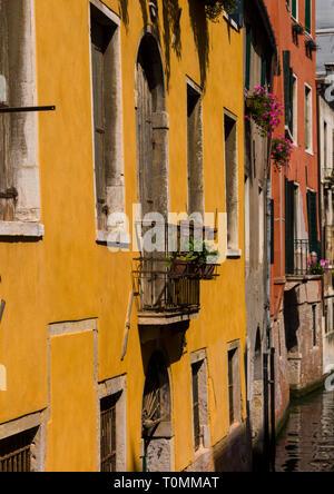 Bâtiments colorés, Vénétie, Venise, Italie Photo Stock