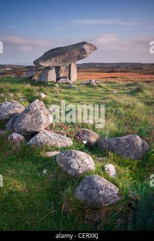 Kilclooney Dolmen - Co. de Donegal, Irlande. Photo Stock