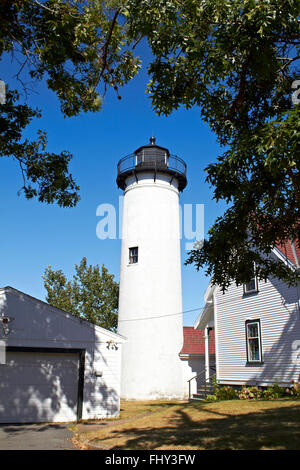 Phare blanc sur Marther's Vineyard Photo Stock