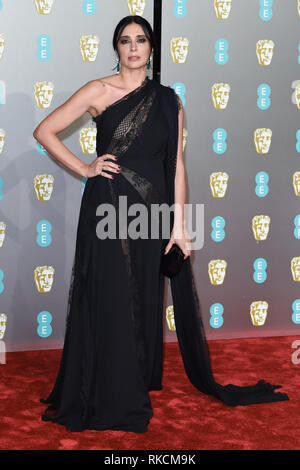 Londres, Royaume-Uni. 10 fév, 2019. Londres, Royaume-Uni. 10 février 2019 : Nadine Labaki arrivant pour le BAFTA Film Awards 2019 au Royal Albert Hall, Londo. Photo : Steve Sav/Featureflash Crédit : Paul Smith/Alamy Live News Photo Stock