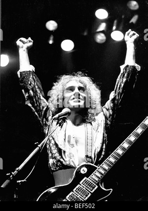 PETER FRAMPTON se produit en concert vers 1976. Photo Stock