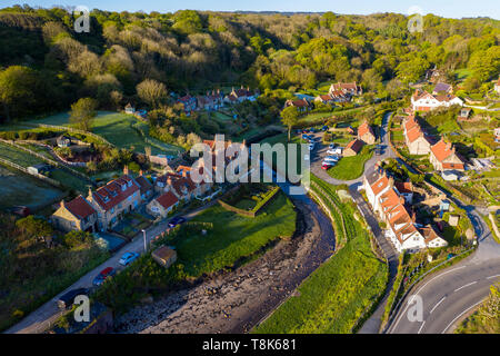 Sandsend village près de Whitby, North Yorkshire Coast Photo Stock