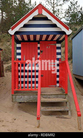 Beach Hut, wells-next-the-Sea, North Norfolk, Angleterre Photo Stock