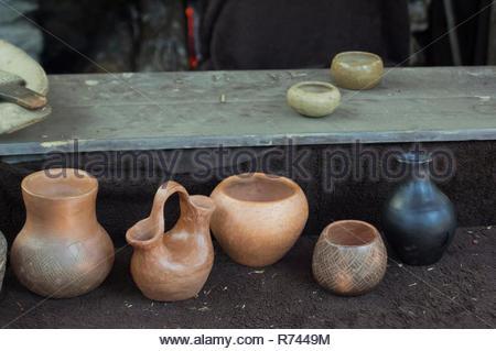 La poterie, Qualla Cherokee Réservation, Caroline du Nord. Photographie numérique Photo Stock