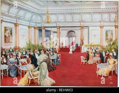 SAVOY HOTEL, Londres. La salle de petit-déjeuner vers 1895 Photo Stock