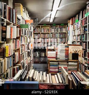 Librairie utilisée à Bruxelles Photo Stock