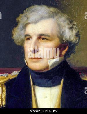 Le Capitaine James Clark Ross, 1800-1862, portrait peinture (détail), 1871 Photo Stock