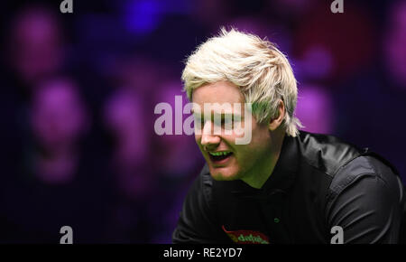 Londres, Royaume-Uni. 19 Jan, 2019. Dafabet Masters Snooker, demi-finales ; Judd Trump contre Neil Robertson ; Neil Robertson remporte la 9e avec une pause 127 : Action Crédit Plus Sport/Alamy Live News Photo Stock