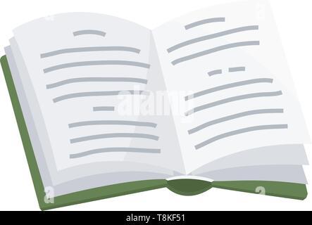 Livre ouvert pour l'amateur de littérature. Encyclopédies pour lecture. Disposé tête-bêche. Objet dans un style contemporain. Vector illustration pour les affiches. Photo Stock