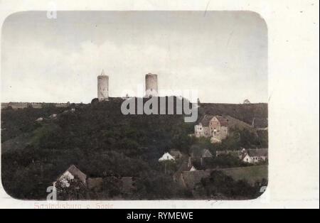 Saaleck, Burg Saaleck, 1907, Saxe-Anhalt, Allemagne, Saalecksburg Photo Stock