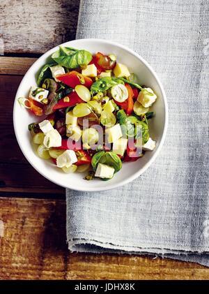 Salade de fromage aux poivrons Photo Stock