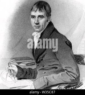 THOMAS EXLEY (1774-1855) professeur de français, mathématicien et théoricien Méthodiste Photo Stock