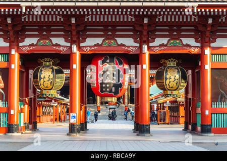 Temple Senso-Ji, Asakusa, Tokyo, région du Kanto, au Japon. Photo Stock