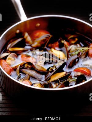 Soupe de moules Photo Stock