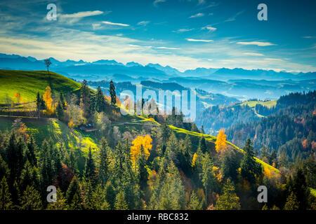 Vallée de l'Emmental, Berner Oberland, Suisse Photo Stock