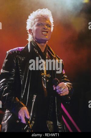 BILLY IDOL en 2001 musicien de rock anglais Photo Stock