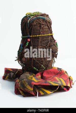 Poupée d'tribu zone sud, Cunene, Angola Photo Stock