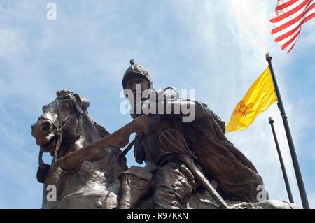 Don Juan de onner Memorial dans le Nouveau Mexique, qu'il a colonisé pour l'Espagne. Photographie numérique Photo Stock