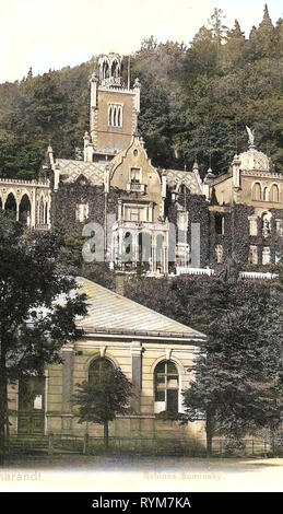 Schloss Tharandt, 1903, Landkreis Sächsische Schweiz-Osterzgebirge, Tharandt, Schloß Suminsky, Allemagne Photo Stock