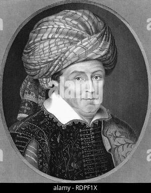ROBERT SHIRLEY (c 1581-1628) voyageur anglais et aventurier Photo Stock