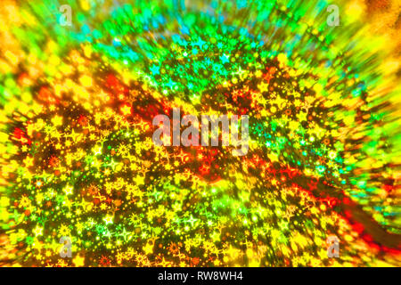 Résumé Arrière-plan flou avec des étoiles colorées. Photo Stock