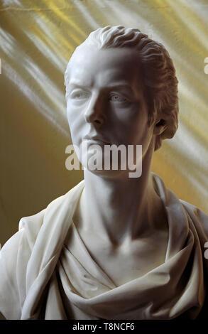 Buste en marbre de William Pitt le Jeune Photo Stock