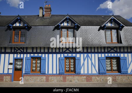 Maison normande, Nassandres, Eure, Normandie, France, Europe Photo Stock