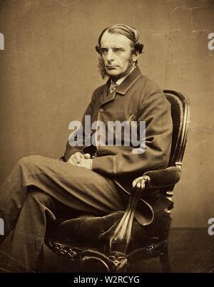 CHARLES KINGSLEY (1819-1875), romancier anglais, réformateur social et professeur Photo Stock