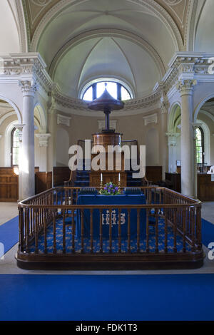 L'intérieur de la chapelle palladienne, commencé en 1760 à la conception de James Paine, à Photo Stock