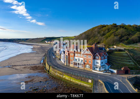 Sandsend près de Whitby, North Yorkshire Coast Photo Stock