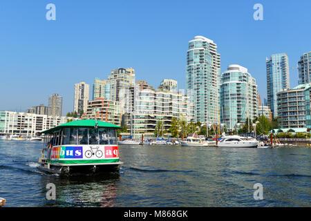 Ferry de Granville Island, Vancouver, BC Canada Photo Stock