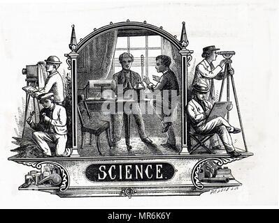 Casque de la Rev. J.G. Le bois du garçon 'Playmate' - La science moderne comme une étude de l'éducation pour les garçons. En date du 19e siècle Photo Stock