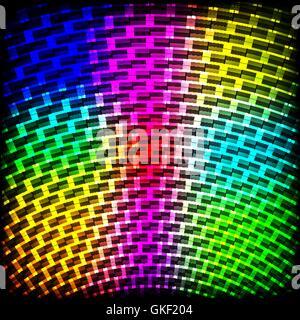 Résumé fond sombre du spectre de couleur avec des paillettes. Photo Stock