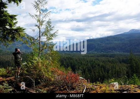 En vue paysage de montagnes rocheuses canadienne, près de Whistler BC Photo Stock