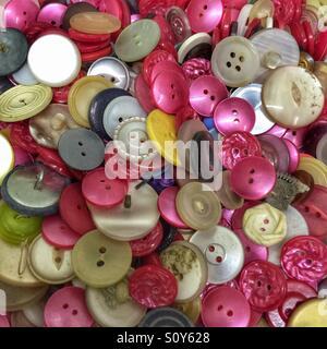 Boutons de couleurs assorties Photo Stock