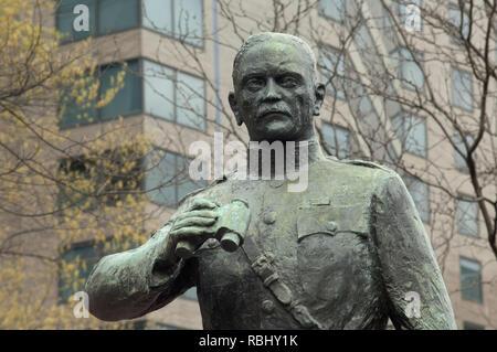 Statue de la Première Guerre mondiale, l'Armée US du Général John J. Pershing, Washington, DC. Photographie numérique Photo Stock