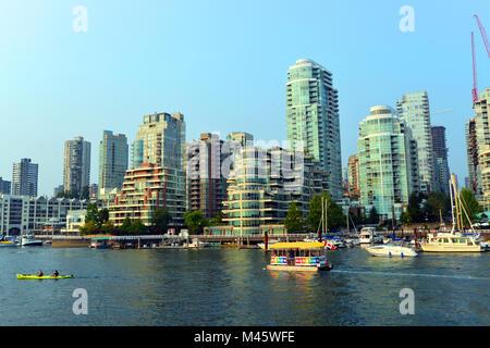 Skyline de Vancouver, British Columbia, Canada Photo Stock