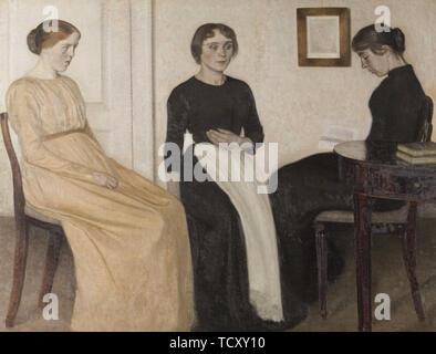 Trois jeunes femmes, 1888. On trouve dans la collection de Ribe Kunstmuseum. Photo Stock