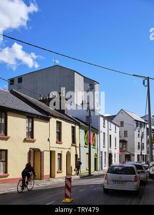 Élévation Rue du nord. Pálás Cinéma, Galway, Irlande. Architecte: dePaor, 2017. Photo Stock