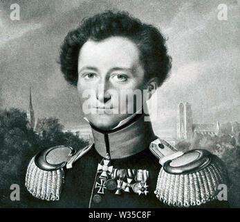 CARL von Clausewitz (1780-1831) général prussien et théoricien militaire Photo Stock