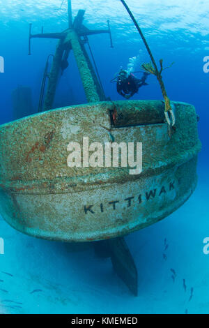 Le premier anniversaire du naufrage de l'uss kittiwake comme récif artificiel. Photo Stock