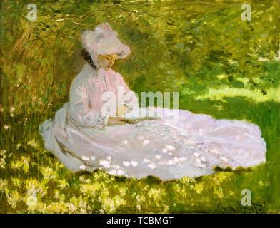 Claude Monet, peinture, portrait, Printemps 1872 Photo Stock