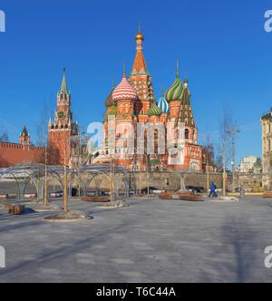 La Cathédrale Saint-Basile, Moscou, Russie Photo Stock
